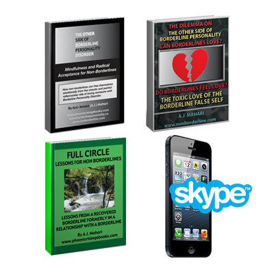 50 Minute Phone Life Coaching Session and 3 Non Borderline Ebooks